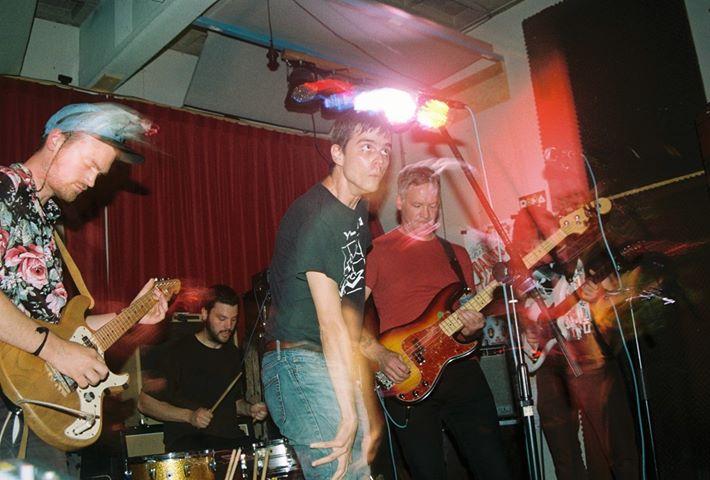 the band landowner performing.